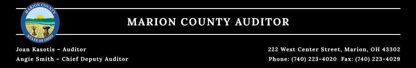 Auditor - Marion County, Ohio