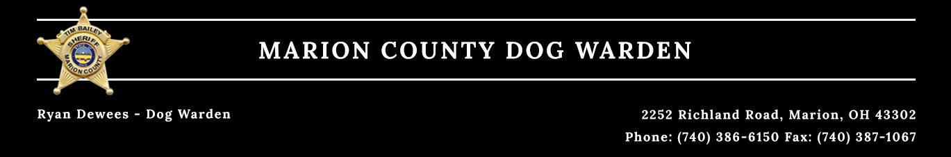 Dog Warden - Marion County, Ohio