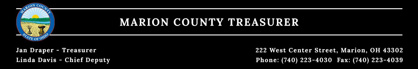 Treasurer - Marion County, Ohio